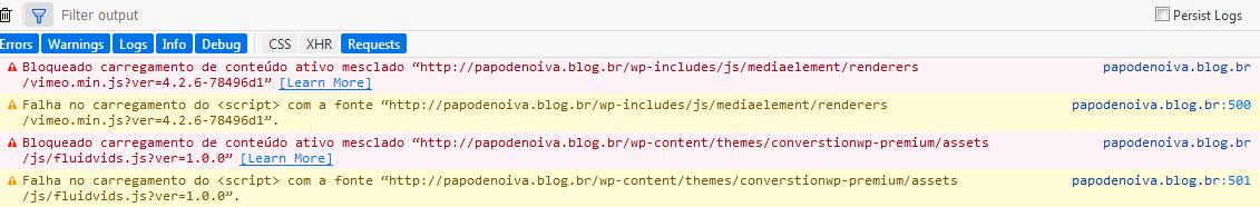 Como deixar o meu site seguro erros apresentados no inspecionar do firefox