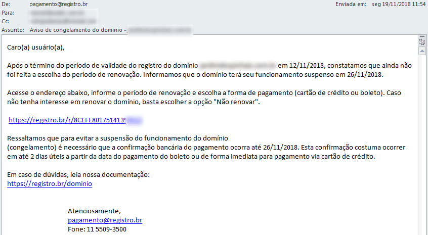 E-mail real do registro.br de Como identificar e-mail falso de registro de domínio