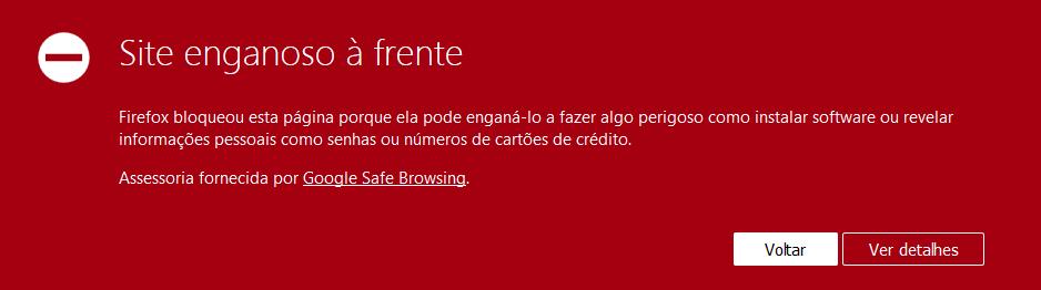 Meu site foi hackeado e agora, como resolver? Mensagem de site malicioso firefox